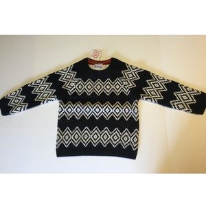NWT kids black and white knit sweater